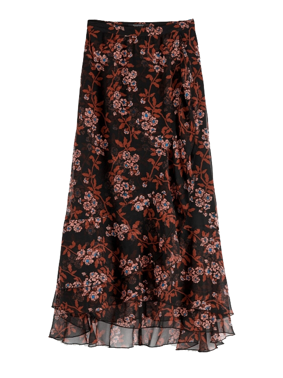 Maison Scotch Rok Printed maxi